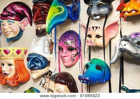 Plenty Of Venetian Carnival Masks