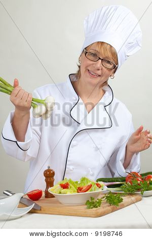 Chef Preparing Salad