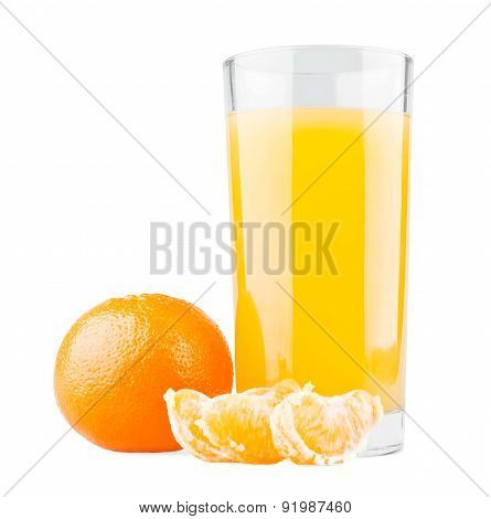 Mandarin With Segments And Juice