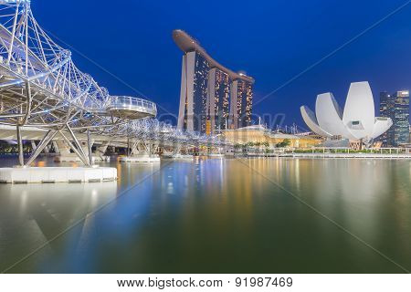 Marina bay Hotel Landmark of Singapore