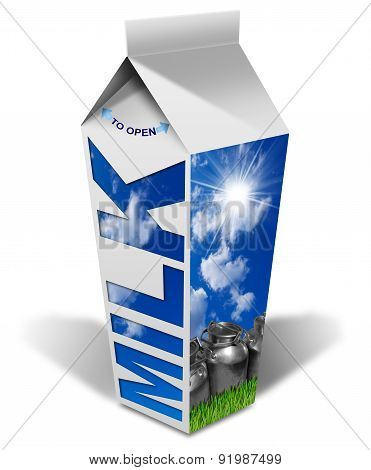 Fresh Milk Beverage Carton