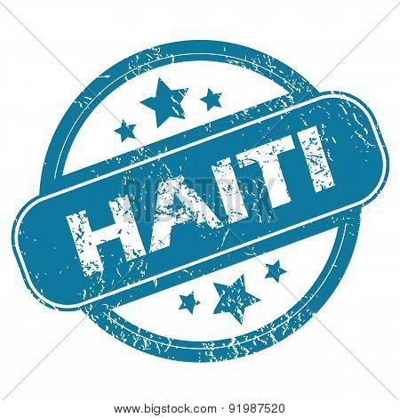 HAITI round stamp
