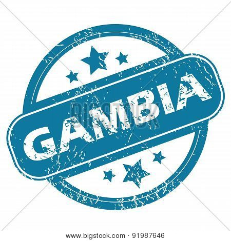 GAMBIA round stamp