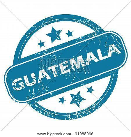 GUATEMALA round stamp