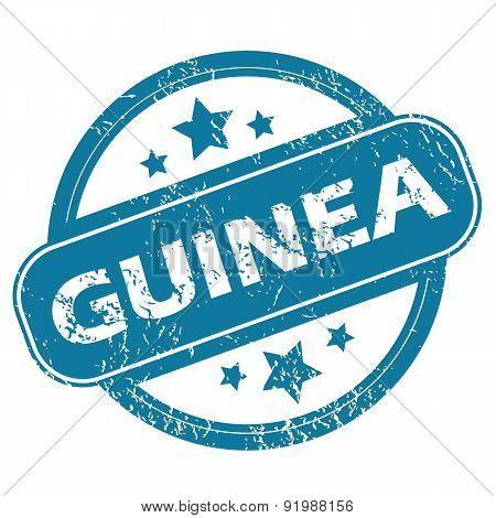 GUINEA round stamp