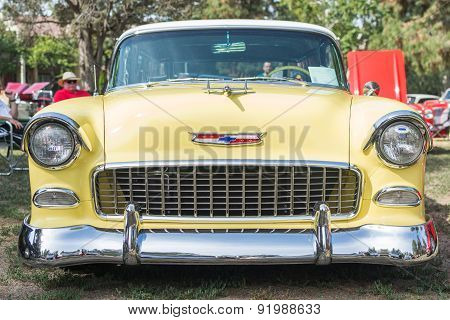 Chevrolet Bel Air Wagon Car On Display
