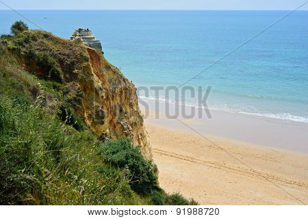 A view of a Praia da Rocha, Algarve