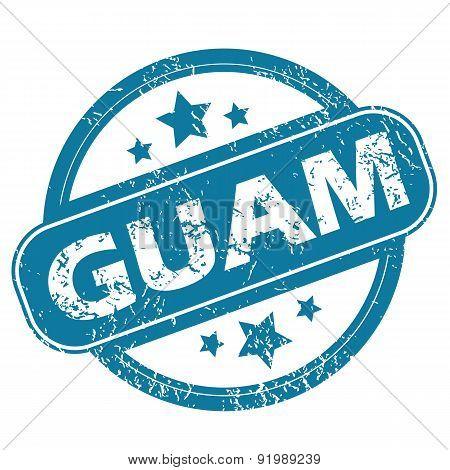 GUAM round stamp