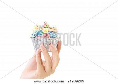 Cupcake on hand