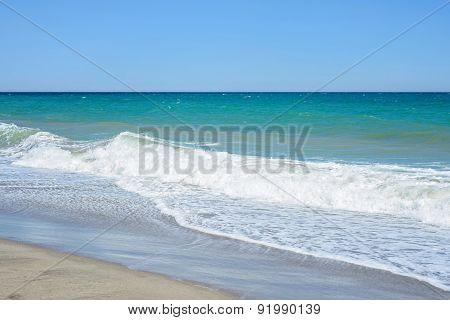 Sand of beach Mediterranean sea