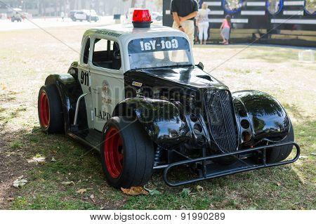 Small Police Car On Dislplay