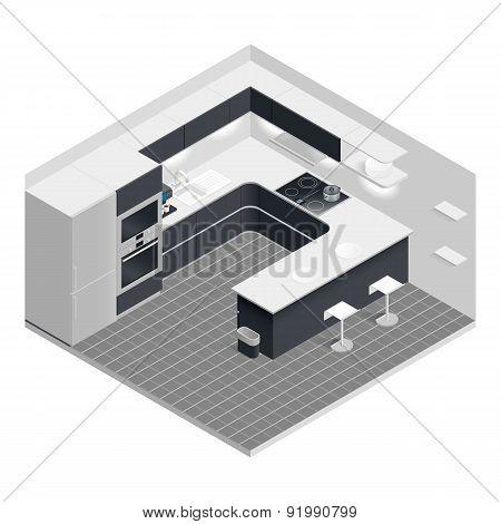 Isometric Kitchen Set
