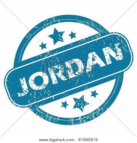 JORDAN round stamp