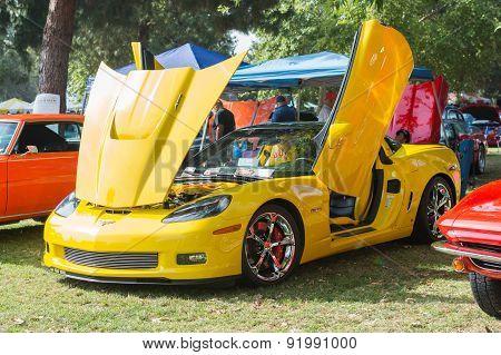 Corvette Z06 Car On Dislplay