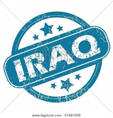 IRAQ round stamp