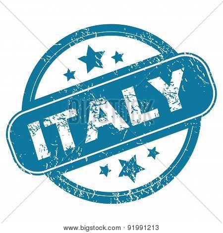 ITALY round stamp