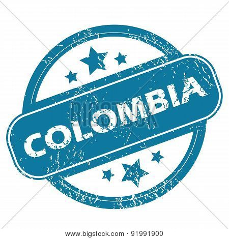 COLOMBIA round stamp