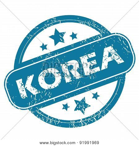 KOREA round stamp