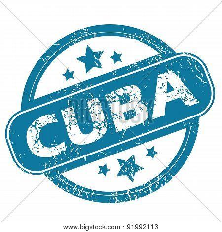 CUBA round stamp