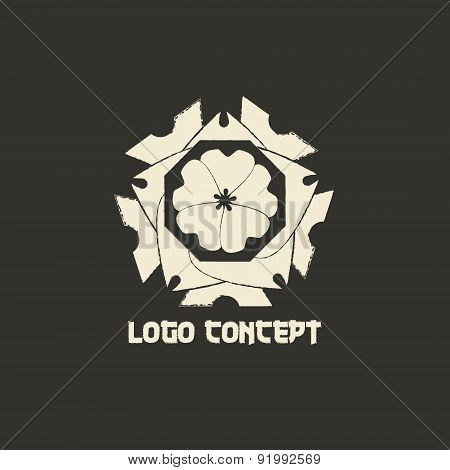 Logo Template In Oriental Style