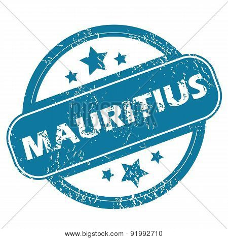 MAURITIUS round stamp