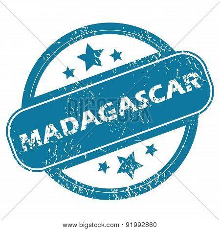 MADAGASCAR round stamp