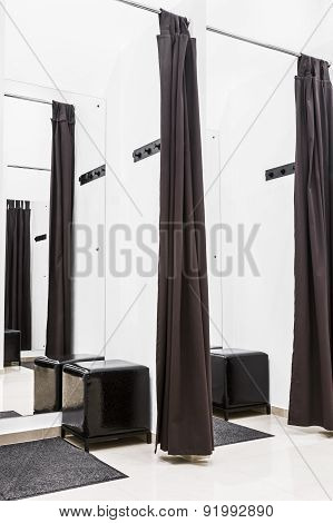 Dressing Room With White Walls