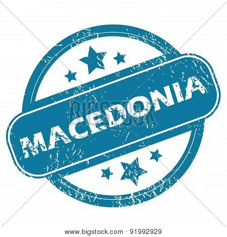 MACEDONIA round stamp