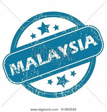 MALAYSIA round stamp
