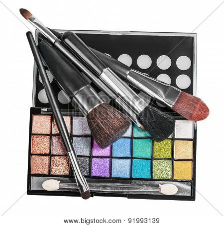 Colorful Make-up And Cosmetics Isolated