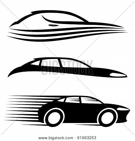 Vector set. Car signs.