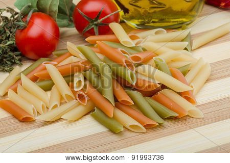 Raw Penne Pasta