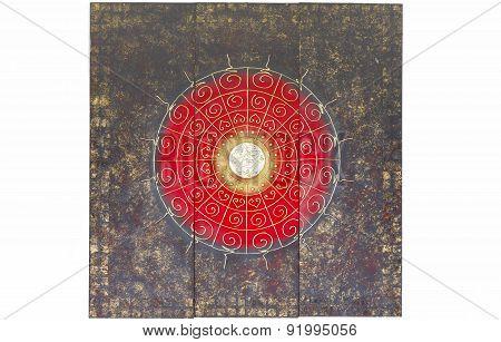Architecture Ancient Civilization Amulet On Wall Partition.