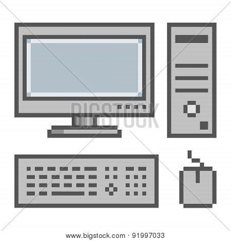 Pixel art computer 8 bit