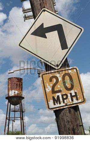 Turn Left And Water Tower