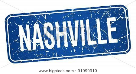 Nashville Blue Stamp Isolated On White Background