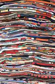 pic of carpet  - Carpets folded for sale in a carpet store - JPG