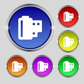 stock photo of mm  - 35 mm negative films icon sign - JPG