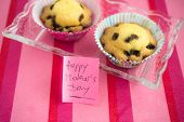 pic of i love you mom  - Happy Mothers Day greeting card with love you mom sticky note on pink background - JPG