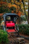foto of rickshaw  - Rickshaw for hire outside the Heian Shrine  - JPG