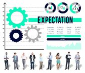 image of expectations  - Expectation Prediction Future Goal Hope Concept - JPG