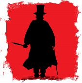 picture of jacking  - Jack the Ripper on the cobble streets of London - JPG