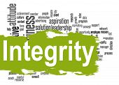 stock photo of integrity  - Integrity word cloud image with hi - JPG