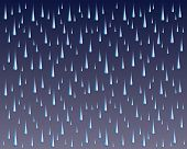 picture of raindrops  - Raindrops is an illustration of brightly colored raindrops on a dark or stormy gradient background - JPG
