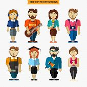 pic of yoga instructor  - Set of professions - JPG