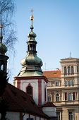 picture of trinity  - closeup photo of the Trinity Church in Prague - JPG