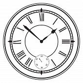 pic of roman numerals  - Vintage dial with Roman numerals - JPG