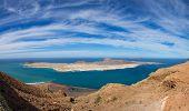 picture of canary-islands  - View of Graciosa Island from Mirador del Rio Lanzarote Island Canary Islands Spain - JPG