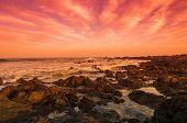 stock photo of canary-islands  - The coast of Atlantic ocean on sunset Canary islands Spain - JPG