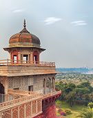 pic of india gate  - Agra Red Fort view on Taj Mahal from the tower - JPG